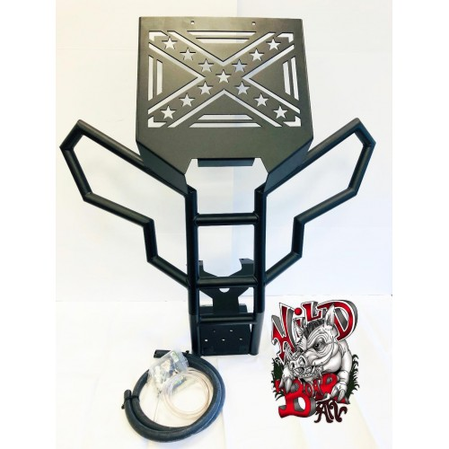 Can-am Renegade (Gen 2) Radiator Relocation Kit & Winch Bumper (Rebel Flag)