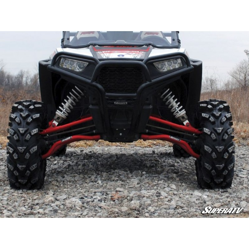 2014+ SuperATV High Clearance Lower A Arms for Polaris RZR XP 1000 // XP 4 1000 Black - Heavy Duty Ball Joints